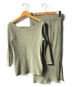 Demi-Luxe Beams(デミルクス ビームス)の古着「ペンタゴンネックテレコプルオーバー」|グリーン