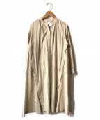 RAY BEAMS(レイ ビームス)の古着「デザインボタンL/Sシャツワンピース」|アイボリー