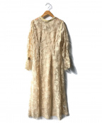 Lily Brown(リリーブラウン)の古着「2WAYチュール刺繍ワンピース」 ベージュ