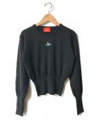 V.W. RED LABEL(ヴィヴィアンウエストウッドレッドレーベル)の古着「オーブ刺繍ニット」|ブラック