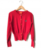 V.W. RED LABEL(ヴィヴィアンウエストウッドレッドレーベル)の古着「オーブ刺繍カーディガン」|レッド