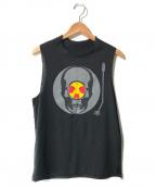 lucien pellat-finet(ルシアン・ペラフィネ)の古着「ヴァイナルレコードTシャツ」|ブラック