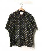 BEAMS Lights(ビームスライト)の古着「刺繍ドットオーバーサイジングシャツ」|ネイビー