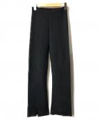 Mila Owen(ミラオーウェン)の古着「センタースリットニット美脚パンツ」 ブラック