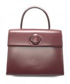 Cartier(カルティエ)の古着「ワンハンドバッグ」 ボルドー