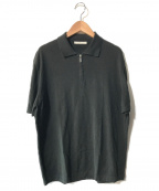 ERMENEGILDO ZEGNA(エルメネジルド・ゼニア)の古着「【OLD】ハーフジップニットポロシャツ」|ブラック
