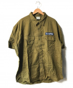 ALPHA(アルファ)の古着「ミリタリーシャツ」|グリーン