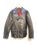 ()の古着「レザージャケット」|ブラック