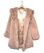 ()の古着「エコファーコート」 ピンク