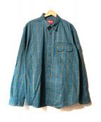 ()の古着「Twill Multi Pocket Shirt」|グリーン