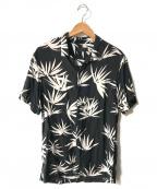ALL SAINTS(オールセインツ)の古着「マリファナアロハシャツ」|ブラック