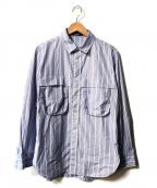 FRED PERRY(フレッドペリー)の古着「MILITARY SHIRT」|ブルー