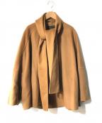 ZARA WOMAN(ザラウーマン)の古着「ストール付ウール混コート」|ブラウン