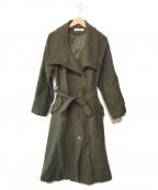 moussy(マウジー)の古着「メルトンロングコート」 オリーブ