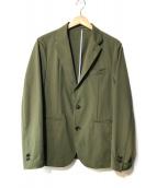 ()の古着「ストレッチジャケット」 グリーン