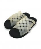 FUMITO GANRYU(フミトガンリュウ)の古着「SILICON SHEET SANDAL」|ブラック