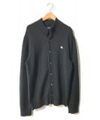 ()の古着「ロゴカーディガン」|ブラック