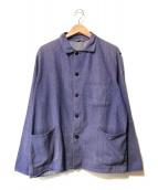 ()の古着「【OLD】フレンチヴィンテージワークジャケット」 ブルー