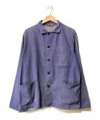 VINTAGE(ヴィンテージ)の古着「【OLD】フレンチヴィンテージワークジャケット」|ブルー
