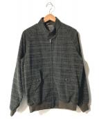 ()の古着「チェックハリントンジャケット」|ブラック×グリーン