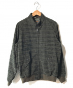 BEAMS PLUS(ビームスプラス)の古着「チェックハリントンジャケット」|ブラック×グリーン