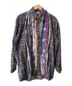 ()の古着「再構築マルチパターンネルシャツ」