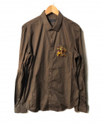 BURBERRY PRORSUM(バーバリープローサム)の古着「ビジューポケットシャツ」|ブラウン