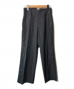 GUCCI()の古着「センタープレスパンツ」 ブラック