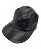 SOLARIS HATMAKERS & Co.(ソラリス)の古着「COWHIDE CAP CITYBOY」|ブラック