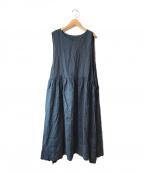 TUTIE(ツチエ)の古着「リネンノースリーブワンピース」|ネイビー