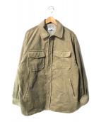 ()の古着「コーデュロイオーバーサイジングジャケット」 ベージュ