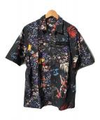 ()の古着「フラワープリントS/Sシャツ」 ブラック