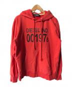 DIESEL(ディーゼル)の古着「プルオーバーパーカー」|レッド