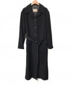 MAX&Co.(マックスアンドコー)の古着「ウールブレンドベルテッドコート」 ブラック