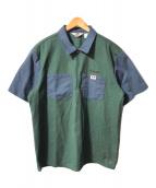 ()の古着「Half Zip Work Shirt/ハーフジップワークシ」 グリーン