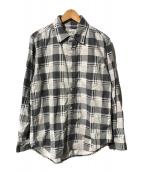 ()の古着「L/Sチェックシャツ」 ブラック×グレー