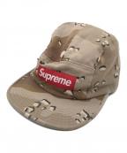 SUPREME(シュプリーム)の古着「デザートカモロゴキャンプキャップ」|ベージュ