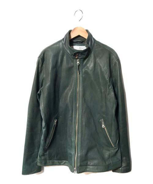 OXFORD(オックスフォード)OXFORD (オックスフォード) ゴートレザージャケット グリーン サイズ:LLの古着・服飾アイテム