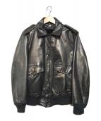 ()の古着「ボアライナー付A-2レザーフライトジャケット」 ブラック