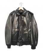 Schott(ショット)の古着「ボアライナー付A-2レザーフライトジャケット」 ブラック