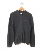LACOSTE(ラコステ)の古着「ニットジャケット」|ブラック