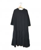 YORI(ヨリ)の古着「ティアードスウェットワンピース」 ブラック