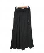 Maison MIHARA YASUHIRO(メゾン ミハラヤスヒロ)の古着「スウェットワイドパンツ」 ブラック