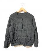 HaaT(ハート)の古着「リンクルノーカラージャケット」 ブラック