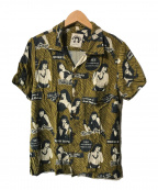 HYSTERIC GLAMOUR BETTIE PAGE(ヒステリックグラマー ベティーペイジ)の古着「BETTIE SCRATCHアロハシャツ」|オリーブ