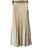 JANE SMITH(ジェーンスミス)の古着「プリーツニットスカート」|アイボリー
