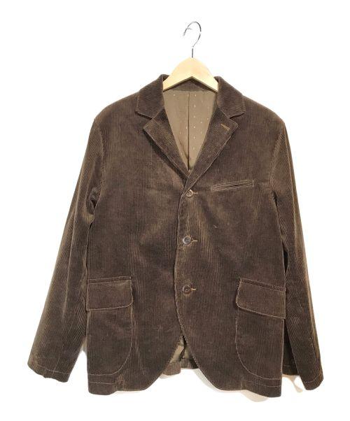 Pherrow's(フェローズ)Pherrow's (フェローズ) 太畝コーデュロイ サックコート ジャケット ブラウン サイズ:Mの古着・服飾アイテム