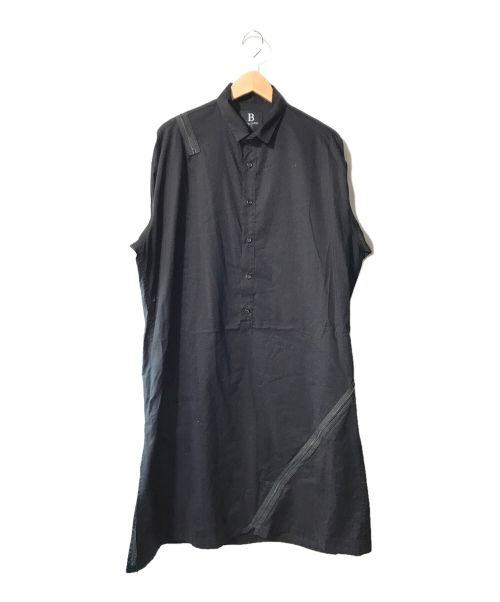 B Yohji Yamamoto(ビーヨウジヤマモト)B Yohji Yamamoto (ビーヨウジヤマモト) B/ファスナーシャツOP ブラック サイズ:1の古着・服飾アイテム