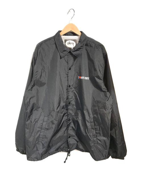 stussy(ステューシー)stussy (ステューシー) コーチジャケット ブラック サイズ:Lの古着・服飾アイテム