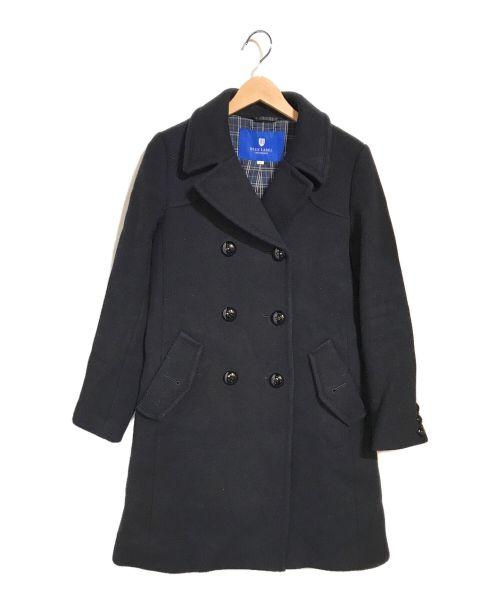 BLUE LABEL CRESTBRIDGE(ブルーレーベルクレストブリッジ)BLUE LABEL CRESTBRIDGE (ブルーレーベルクレストブリッジ) ダブルコート ネイビー サイズ:38の古着・服飾アイテム